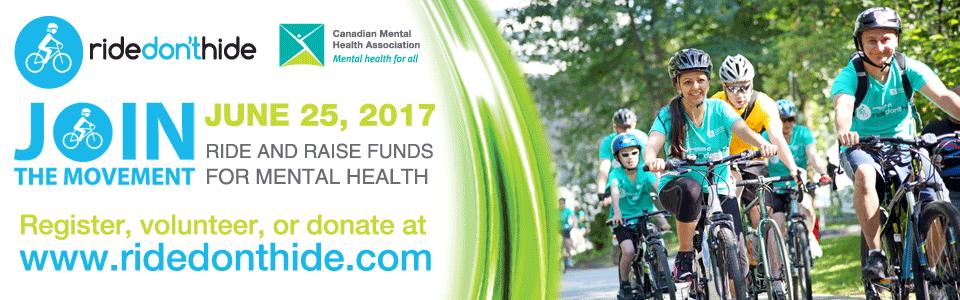Ten Thousand Canadians from Coast to Coast will Participate in Ride Don't Hide on June 25