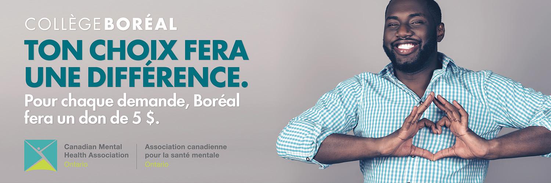Le Collège Boréal et l'ACSM Ontario s'associent pour soutenir la santé mentale