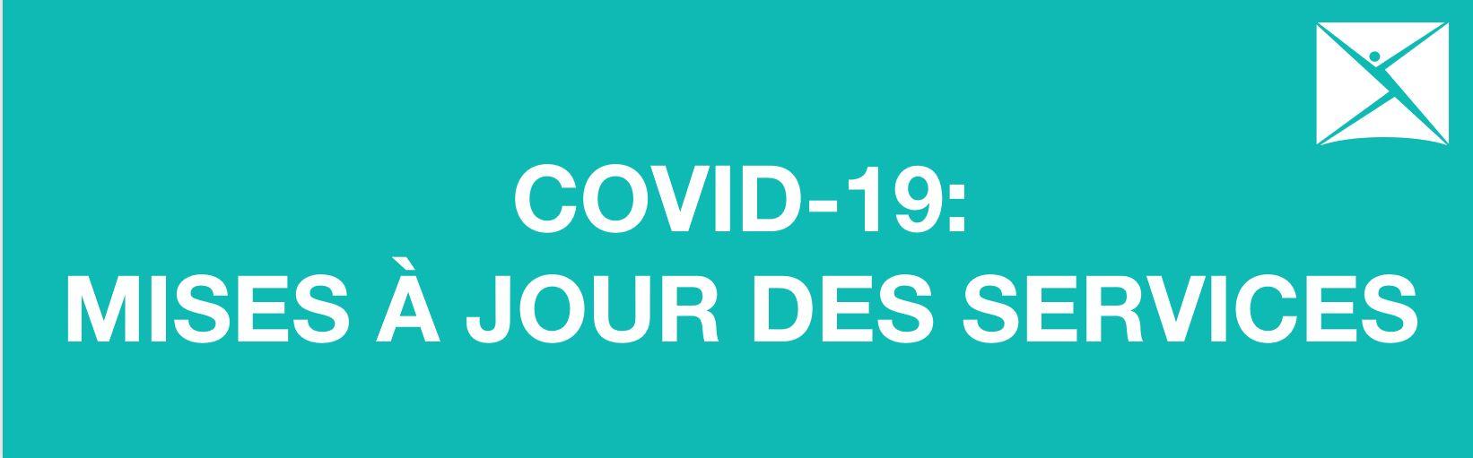 L'ACSM-S/M modifie ses services pour protéger la santé et la sécurité du public durant la pandémie de COVID-19